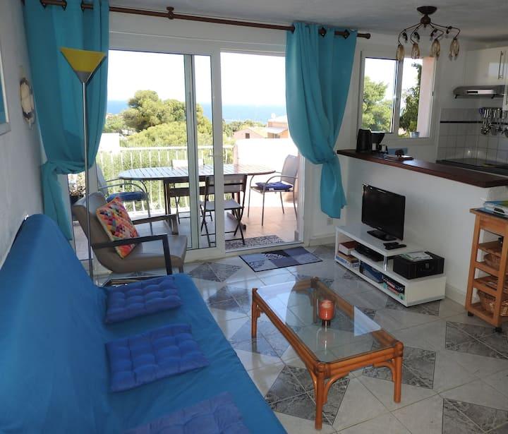 Corse, Marine Sant'Ambroggio, appt 6 p, vue mer