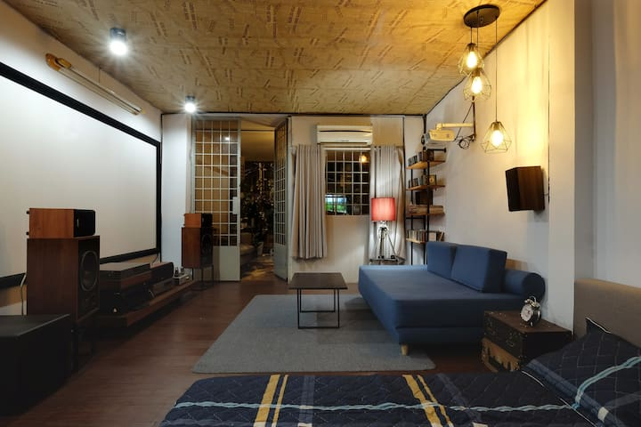 J's house (cozy movie room)