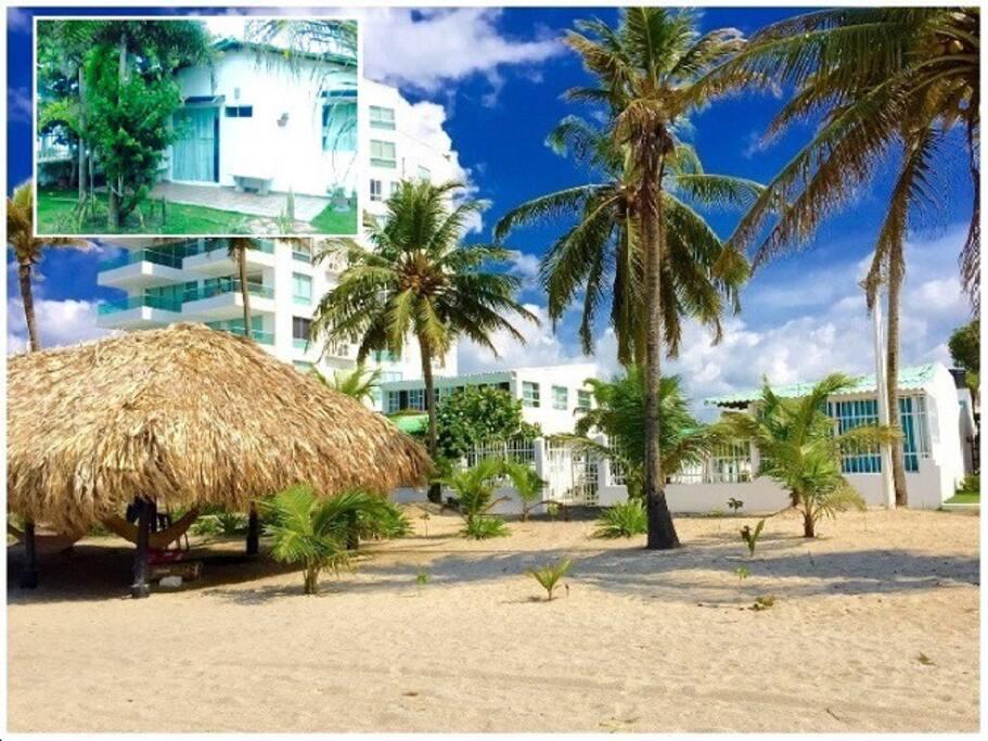 Playas, kiosko y Parte externa del Condominio
