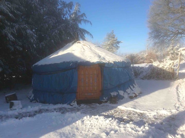 Mongolian Yurt with underfloor heated bathroom