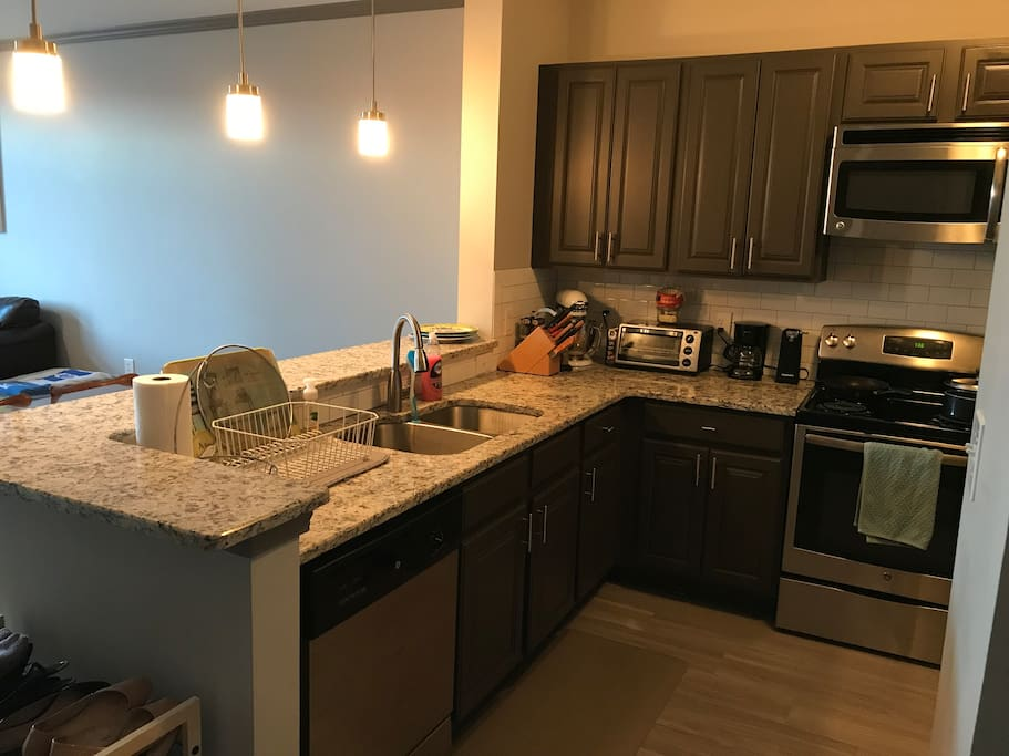 Fully equipped kitchen for travelers who want to cook!