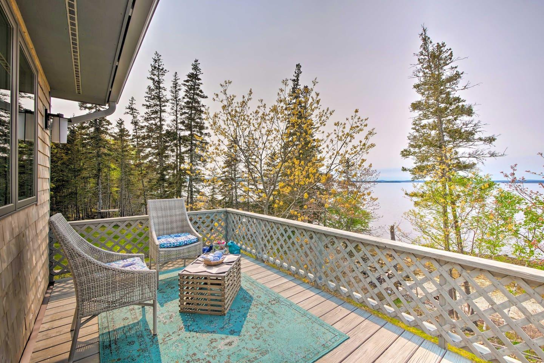 Book your next Penobscot Bay getaway to this updated 2-bedroom, 2-bath home.