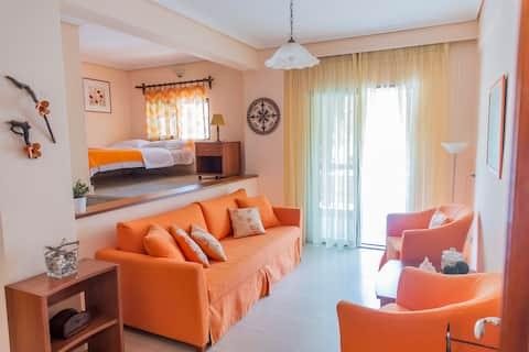 Orange house | cozy apartment under Olympus
