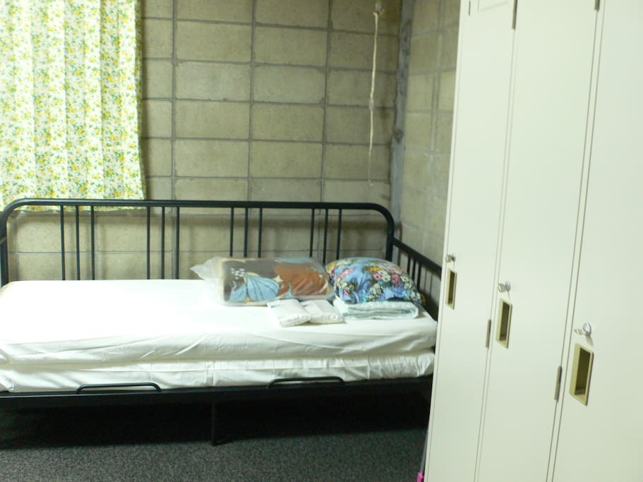 Private Space : (West Side) Two layer bed by IKEA, Closets