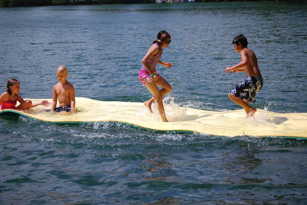Aqua Lily Pad will provide hours of enjoyment!