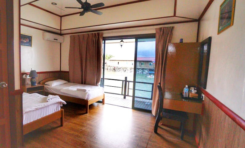 Seaview room A, Mabul Paradise Lodge, Mabul Island
