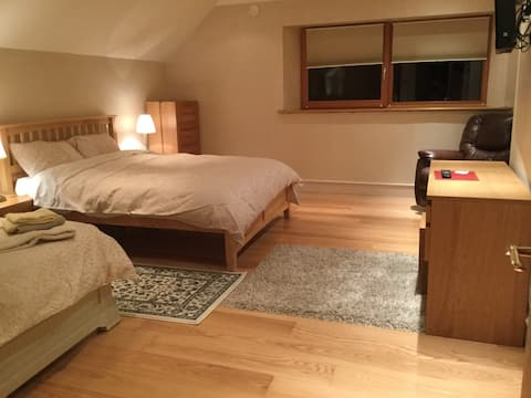 Large double  with private bathroom.