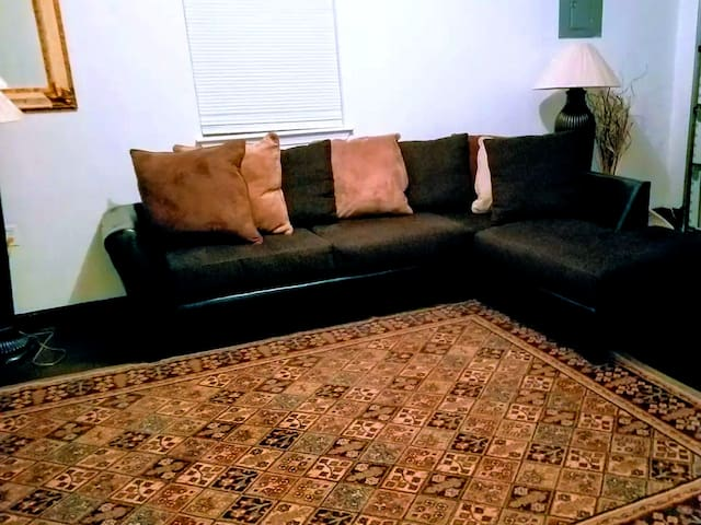 Comfortable couch in Entertainment room