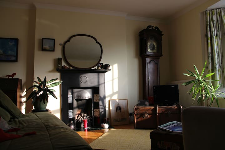 The living room - grandfather is quiet these days