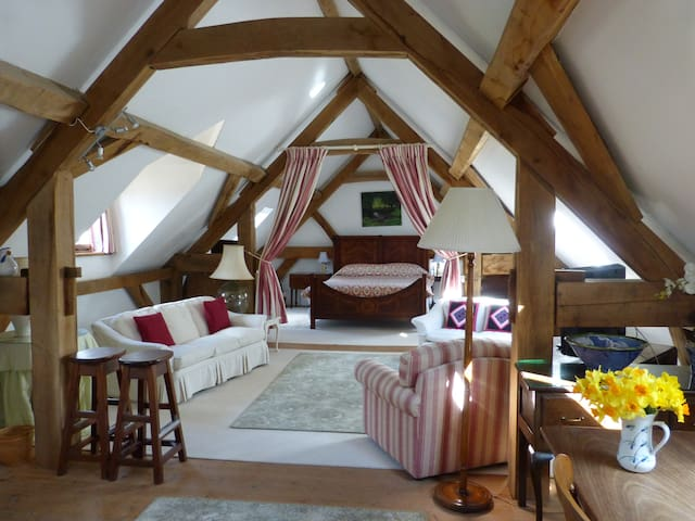 Spacious self cater Studio with garden in Dorset