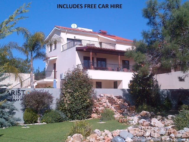 Villa Vounos FREE CAR HIRE pvt pool