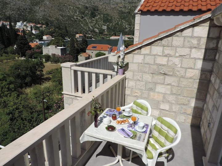 Apartments Vodnica - Comfort One-Bedroom Apartment with Balcony and Partial Sea View