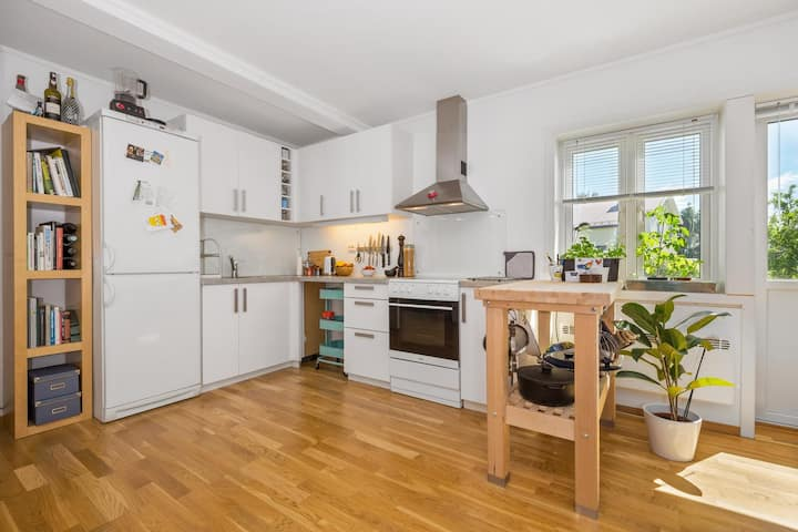 Sentrumsnær leilighet med god standard.