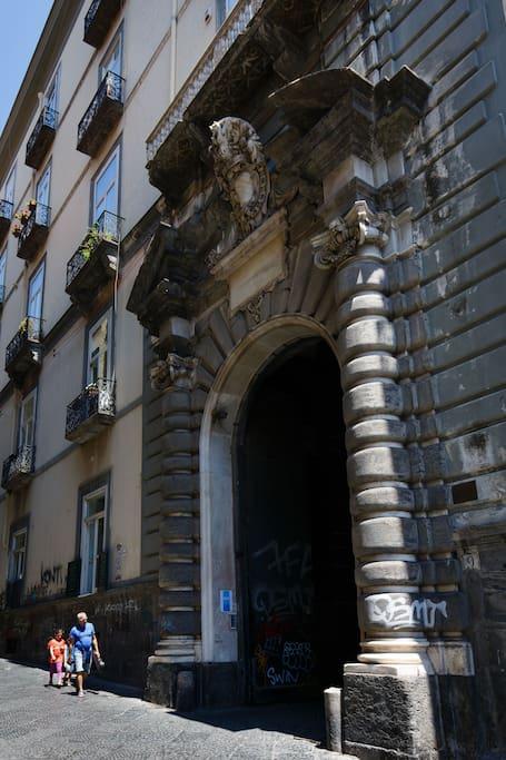 Palazzo Sansevero main entrance