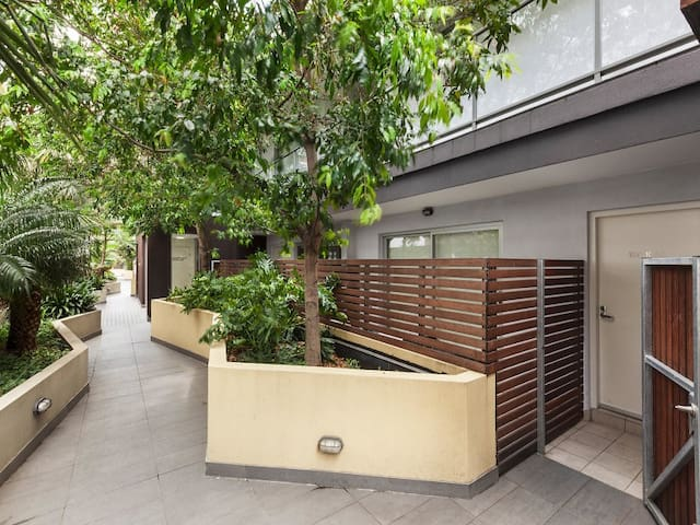 Private apartment w/ balcony & secure parking