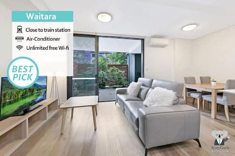 KOZYGURU | Waitara | Kozy 2 Bed APT | Walk to Train Station | NWA008