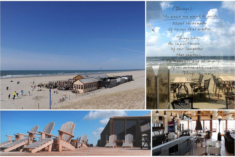 Beach restaurant De Kwartel, excellent wine list