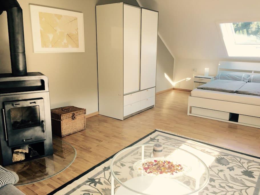 kaminofen im 3 raum appartment am goethewanderweg wohnungen zur miete in ilmenau th ringen. Black Bedroom Furniture Sets. Home Design Ideas