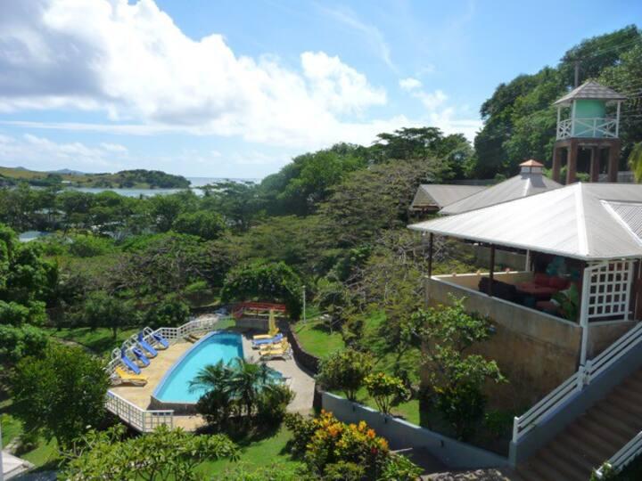 Sugarapple Inn: Pool + Garden View