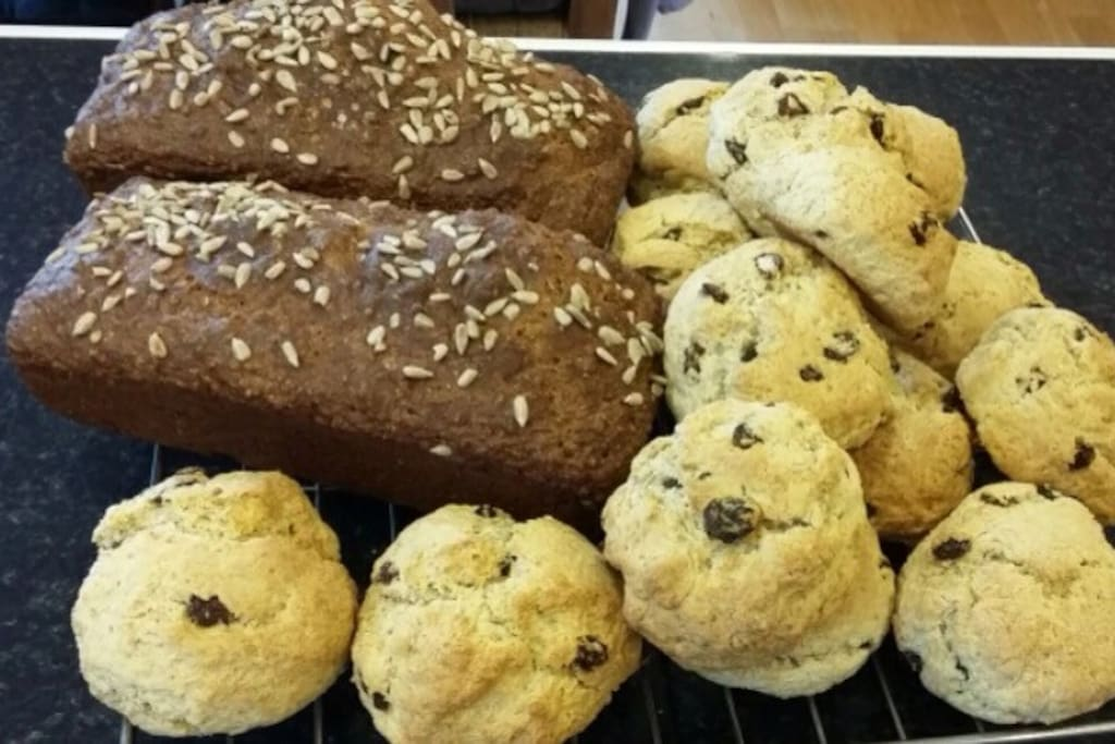 Homemade bread and scones daily.