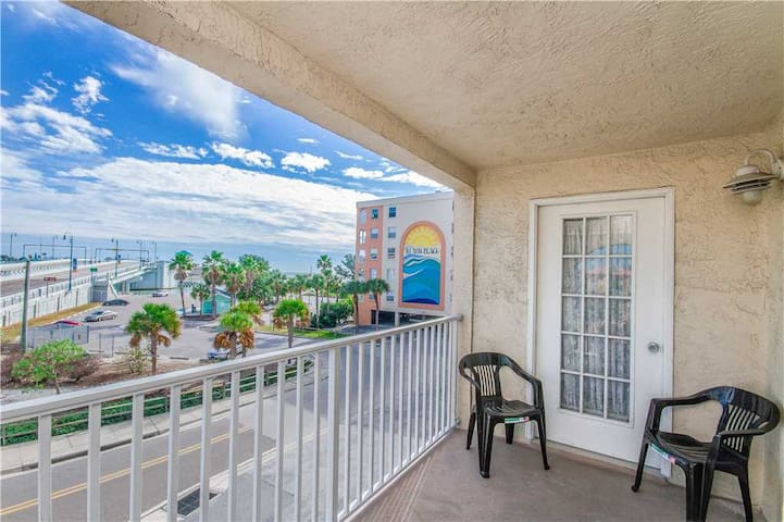 Corner Unit With Views of Johns Pass Bridge  Waterway - Watch The Boats  Dolphins - Free Wifi - #204 Beach Place Condos