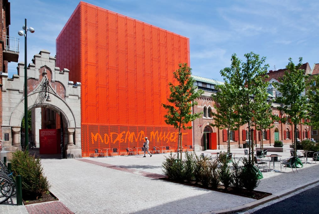 Modern art museum is 150m away and is free for the visitors- great way to escape the weather when it is not at its best.
