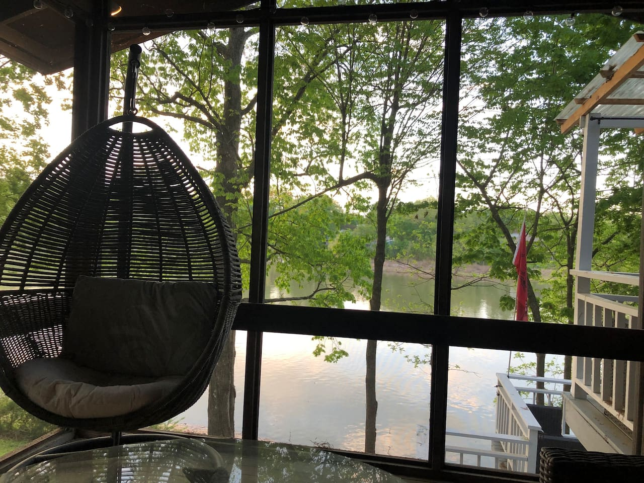 Screened in porch.