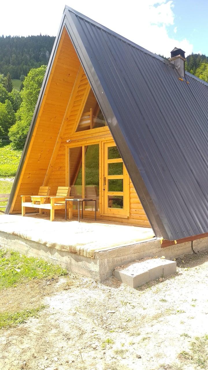 🌟 cozy A-frame -House, 55qm, big balcony