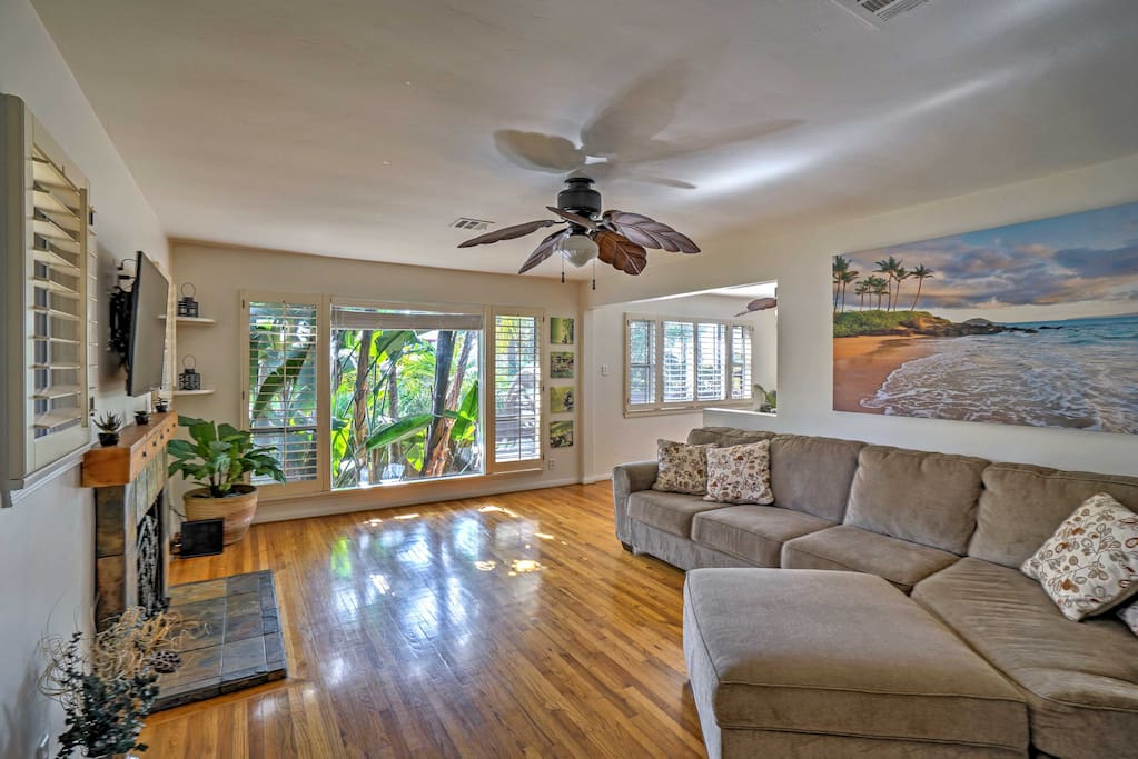 This home boasts 1,800 square feet of tastefully appointed living space with tropical decor throughout.