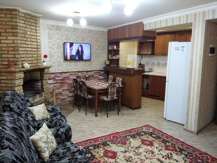 HOUSE with FIREPLACE, КАМИН, тандыр, беседки, ДОМ