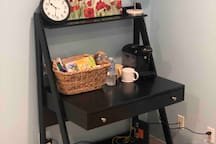 Workspace and ammenities.