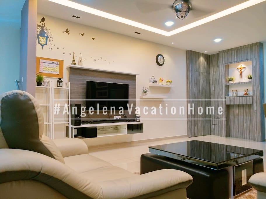 Living Area • Air-conditioner • Free WIFI • Wireless 4K HD Android TV • Home Theatre • 1st view