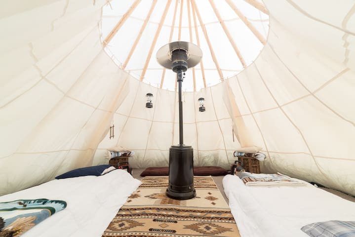 Rustic camping  in a Tipi for 2 by Mt. Rainier 4