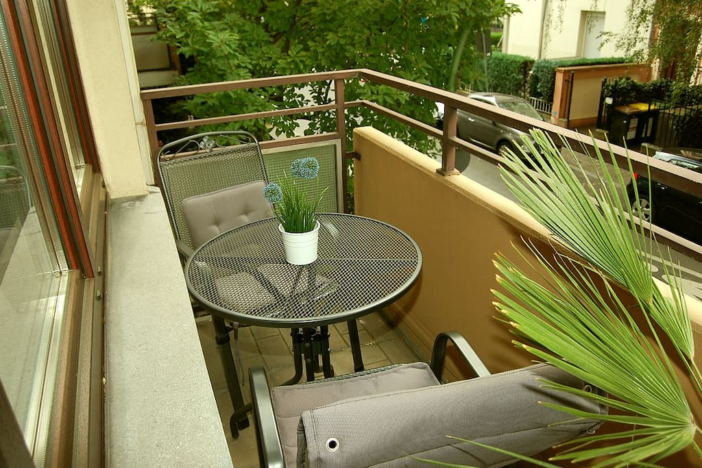 You can enjoy your own private balcony, the access is in your room.