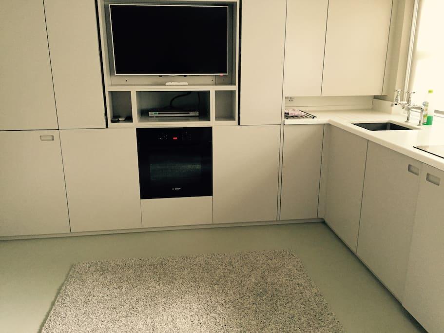 Kitchen area TV