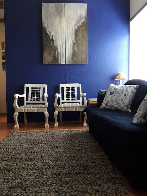 Comfortable seating area, perfect place to relax after long hikes or beach walks