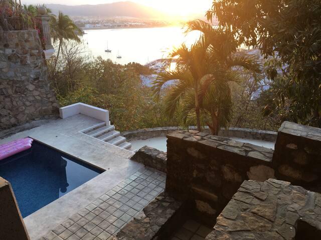 House pool and yard