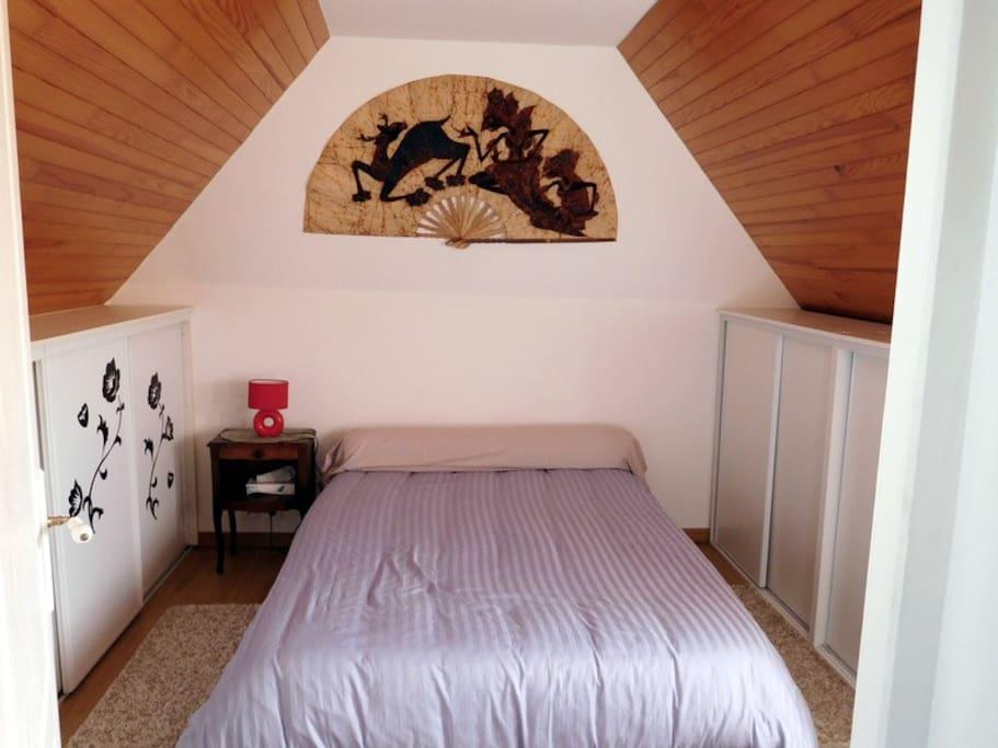 la chambre n°1 avec un lit de 140 x 190