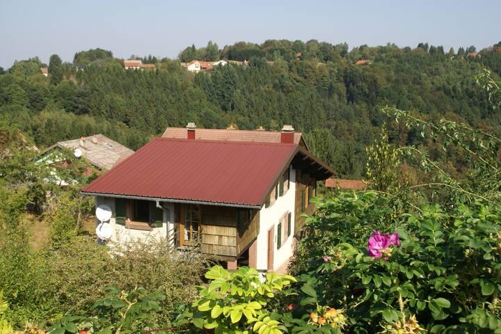 Casa de vacaciones aislada en Harreberg con terraza