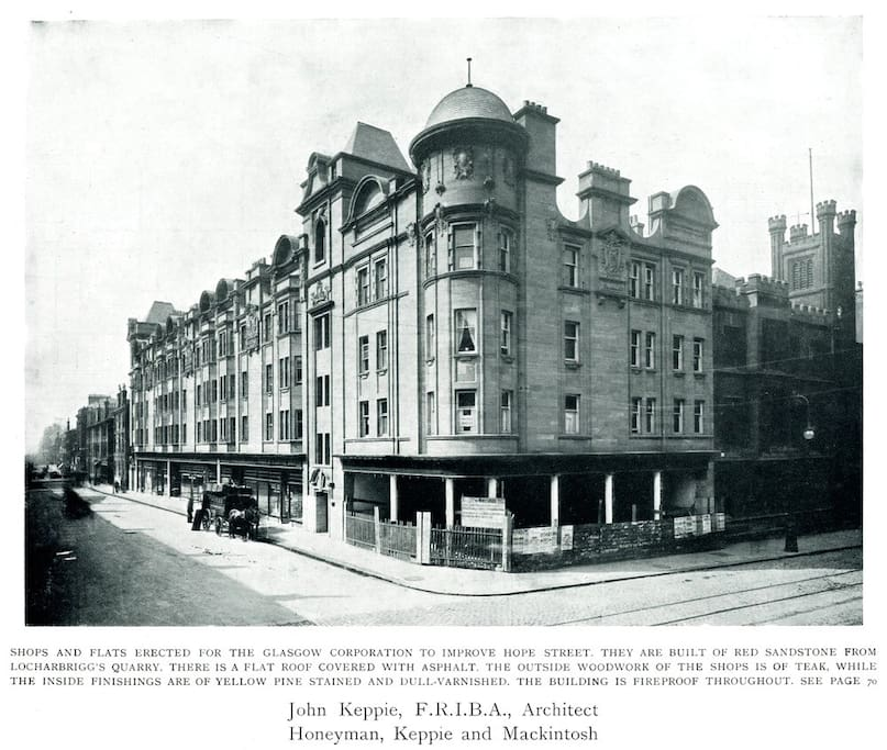 Old photo of the building