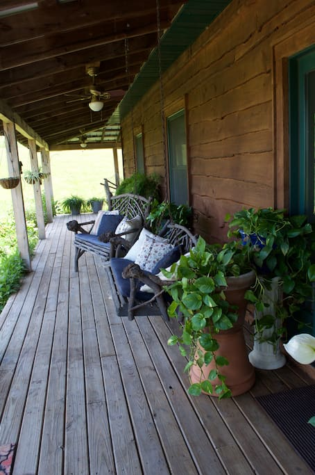 The front porch is yours to enjoy.