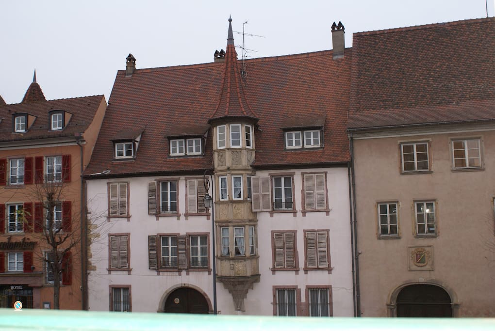 Take a look on this pretty building, the view from the apartment!