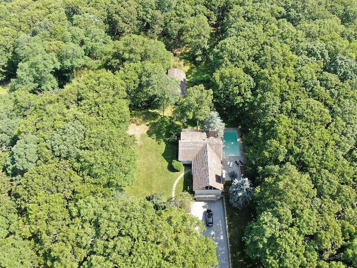 Charming, secluded home on 3.8 acres