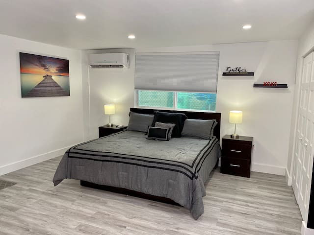 King size bed with different types of pillows for your comfort