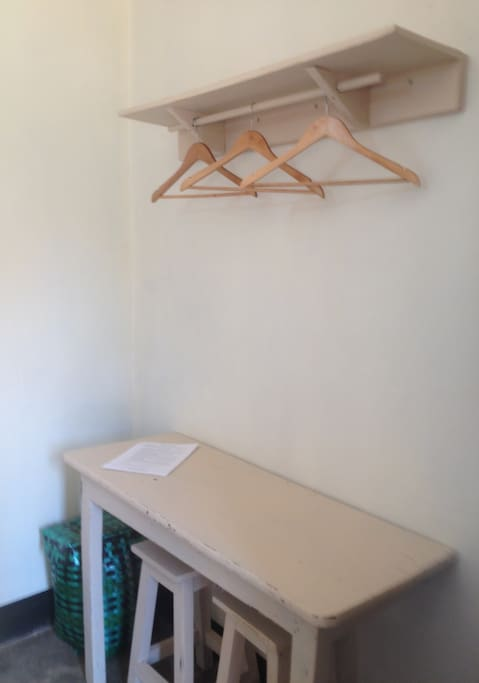 Small table in room