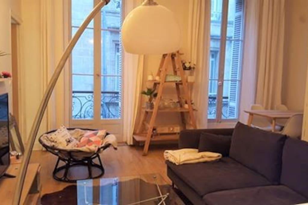 Appartement cosy gambetta appartements louer for Appartement bordeaux 40m2