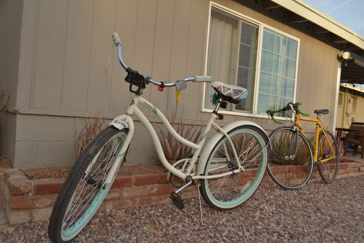 We have bikes available for guests to borrow upon request.