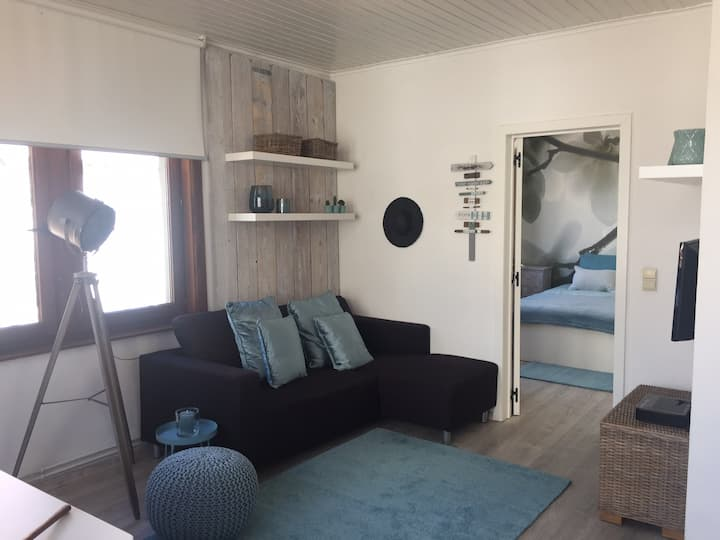 Apartment with sea view in center Westende bad.