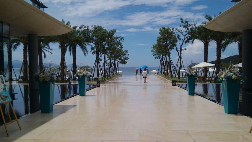 惠州小径湾海景公寓,近沙滩,两张1.8米大床,房间宽敞舒适 - Huizhou Shi - Huoneisto