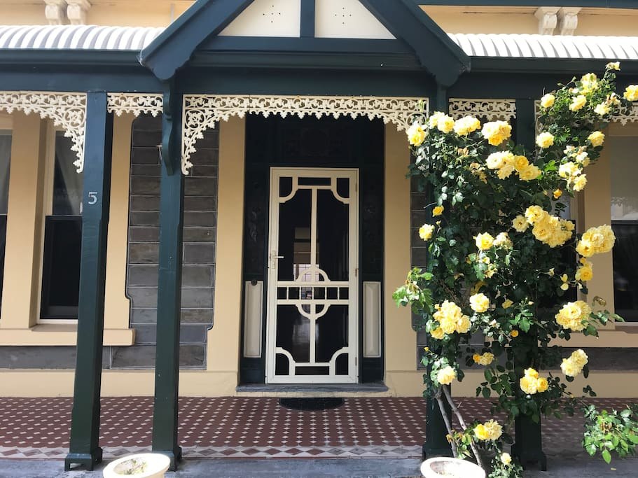 The front door at Rose by the Sea